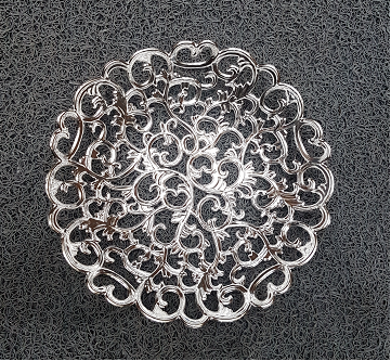 Round Bowl Silver Small 9