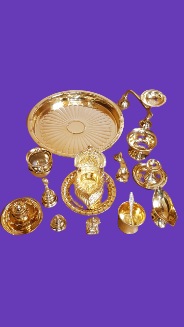 POOJA SET Gold Plated